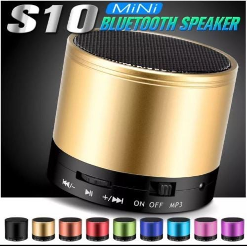 S10 Bluetooth Speaker Outdoor Speakers Handfree Mic Stereo Portable Speakers Support TF Card
