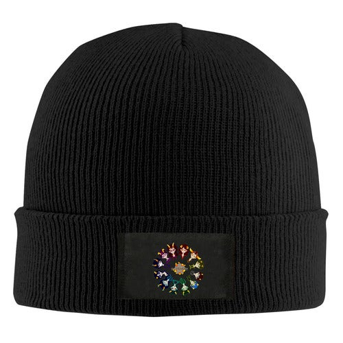 Homestuck Hivebent Betas Clock Starsign Unisex Adult Print Beanie Caps Adjustable Knitted Hat