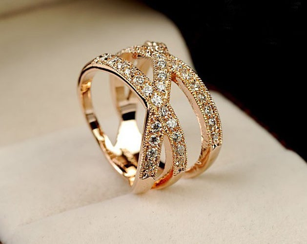 (#54) Exquisite Rose Gold Plated with AAA zircons