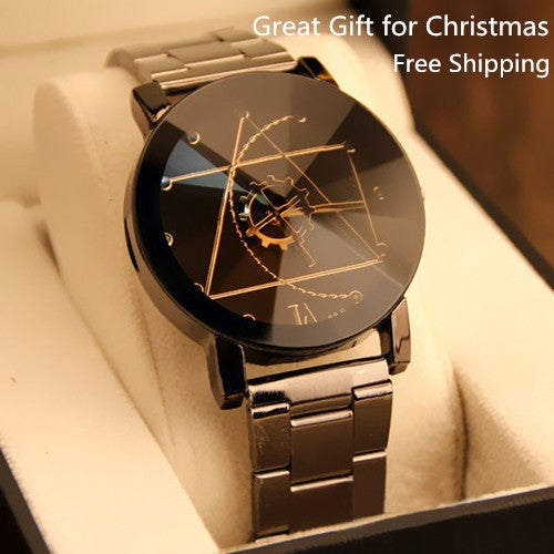 Free Shipping Great Gift for Christmas Wowen Quartz Lover Full Steel Wristwatch