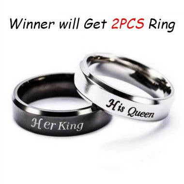 2PCS King Queen Couple Ring