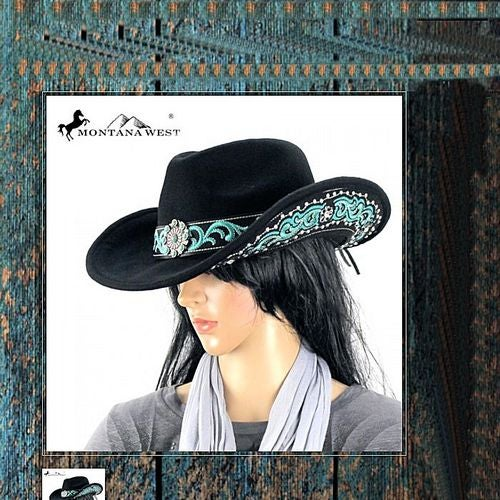 Montana West Licensed Western Stoned Hat | Tophatter