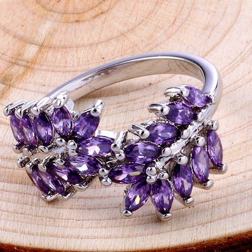Belle Marquise Amethyst Sterling Silver 925 ring