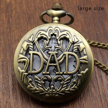 Antique Daddy Pocket Watch Hollow Design Pendant