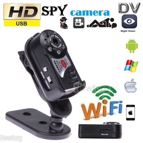 HD 1080P Thumb Wifi DVR Wireless IP Camera IR Night Vision 1920 x 1080 Portable Car Monitor Hidden Spy Camera Detection Camcorder Video Recorder