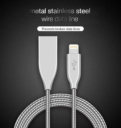 Fast Metal Micro USB Braided Data Cable Charge & Sync For iPhone