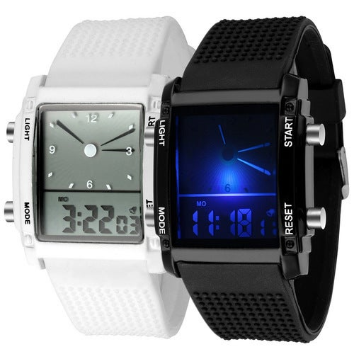 Colorful luminous watches double display electronic watches LED sports watches