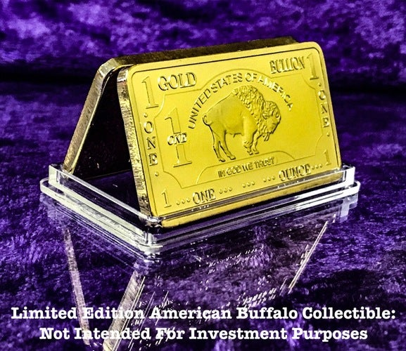1 Troy Ounce .999 Gold Clad ***United States Of America*** ***The Iconic Buffalo *** Limited Edition Art Bar
