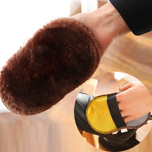 New Soft Home Use Shoes Cleaning Leather Care Cleaning Gloves Cloth Polishing Shoe Brush