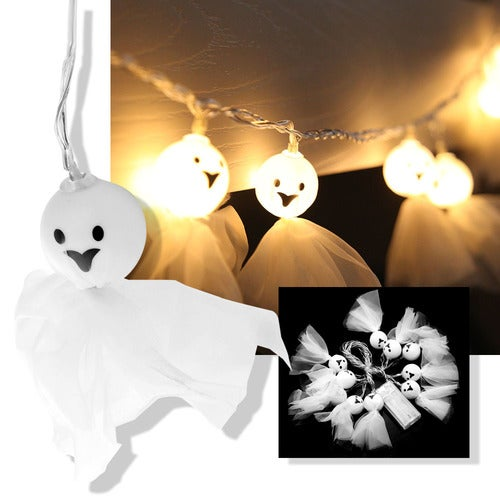 2.5m / 8.2ft 10-LED Sunny Dolls Style String Light Warm White Lamp Decoration Battery Operated for Christmas Garden Home Patio Lawn Holiday Party