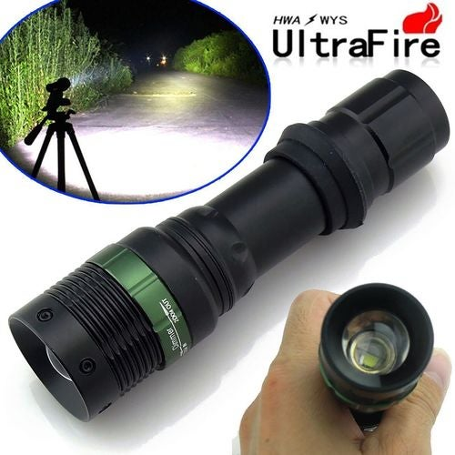 HALLOWEEN  SALE--55% OFF ---Ultrafire CREE XM-L T6 Zoomable 5000 Lumen Tactical LED Flashlight Torch Lamp