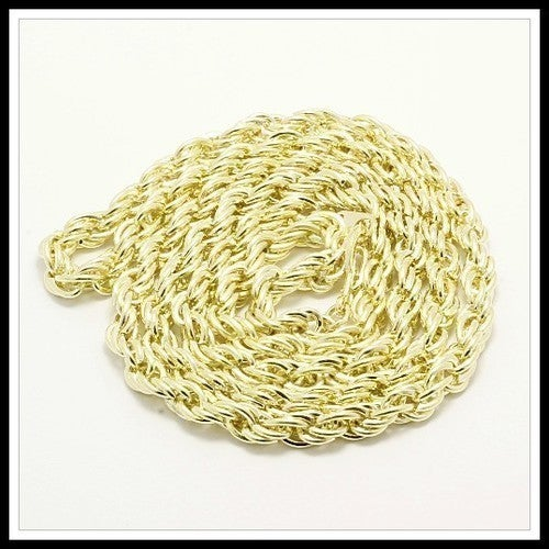 "Design Twisted Yellow Chain 24""  Necklace sm871"