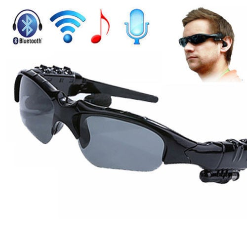 HALLOWEEN SALE 60% OFF---- NEW Wireless Bluetooth Sun Glasses Headset Headphones Handfree For iPhone Samsung HTC