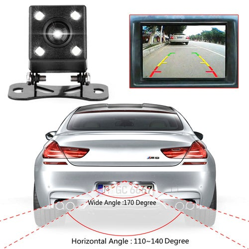 High Quality Waterproof 4 LED Night Vision Car CCD Rear View Camera Reverse Camera
