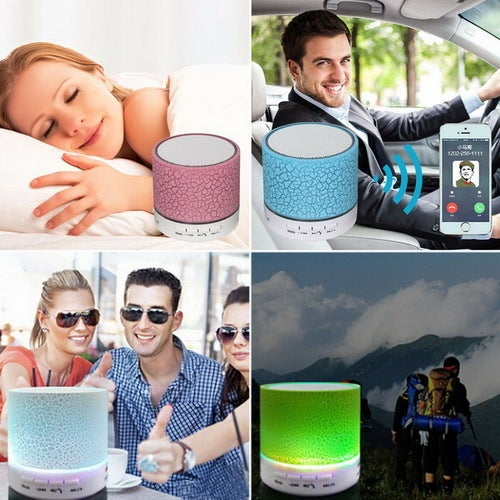 New Year Gift! LED Portable Mini Bluetooth Speakers Wireless Hands Free Speaker With TF USB FM Mic Blutooth Music For Mobile Phone iPhone 6 7 s