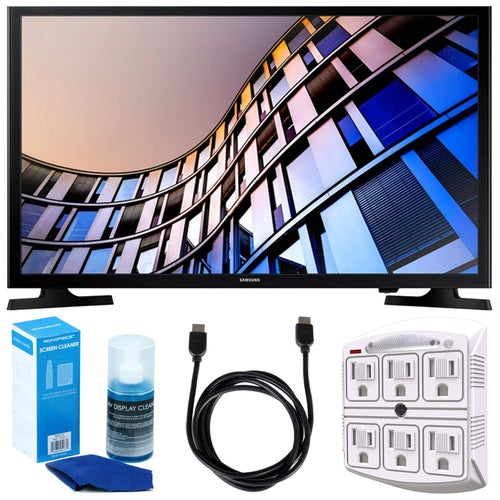 Samsung 23.6 720p Smart LED TV (2017 Model) + Accessories Bundle