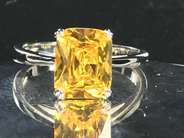 Limited Citrine on Silver Ring. Size 7, 8 or 9.
