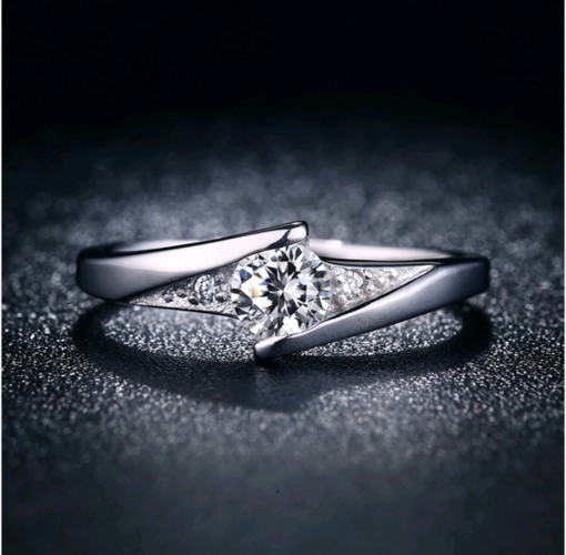 WGP simple cz wedding engagement ring.