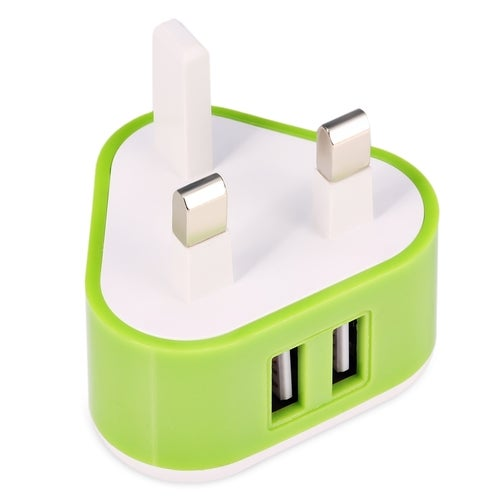 Triangle Shape Universal Dual USB Port Home Wall Power Supply Adapter Charger