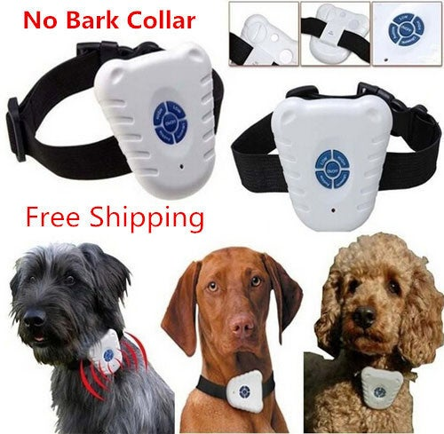 Free Shipping Light weight Ultrasonic & Audible control No-bark collar Stop Barking dog Training Device dogs
