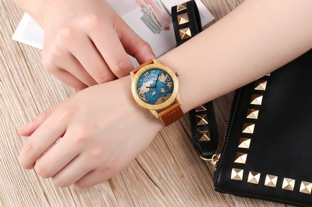 Wooden plate male models female leisure business watch high - grade retro simple quartz watches