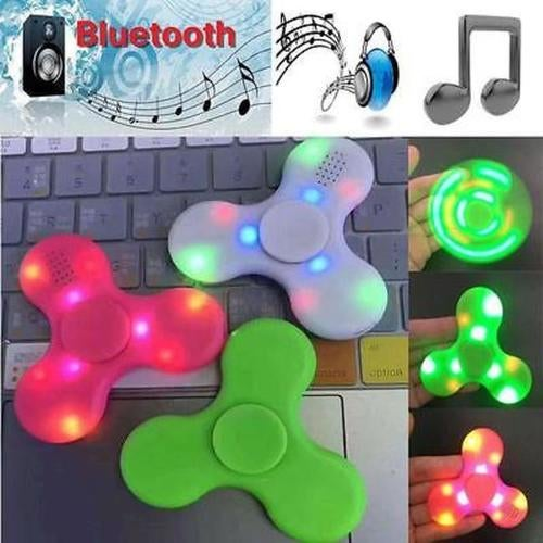 Bluetooth Speaker LED Light Anti Stress Hand Fidget EDC Hand Spinner Gyro Toy