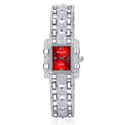 Fashion Luxury Silver Color Bracelet Women Watches
