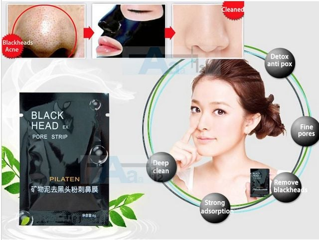 Pilaten Deep Cleansing Black Purifying Mask Lifting and Firming Facial Cream - 3 Packages