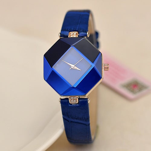 New women watch dimensional surface leather belt compact bracelet watch watches