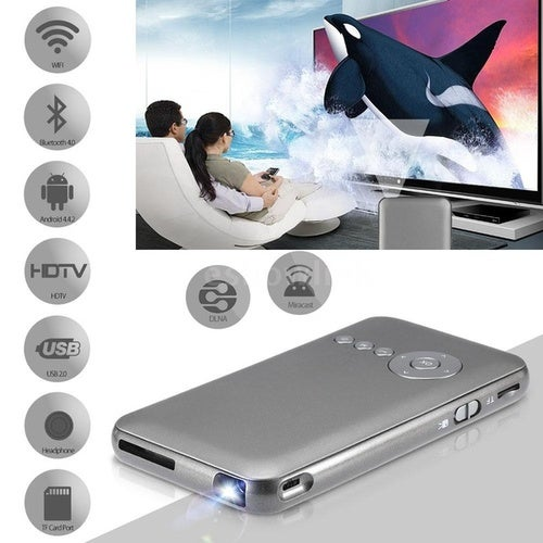 Home & Living DLP LED Projector+ Smart TV Box 1G/16GB 2 in 1 Projection Machine Miracast DLNA 2.4G / 5G Dual Band WiFi Bluetooth 4.0 HDTV for Notebook Laptop Smart Phones