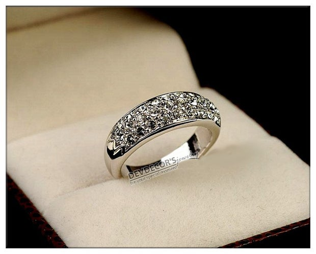 (#67) Gorgeous Multi Layer Ring With Sparkling Crystal