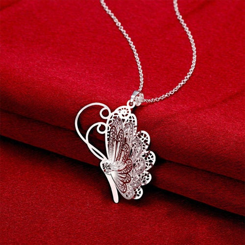 Dainty Butterfly Silver Necklace