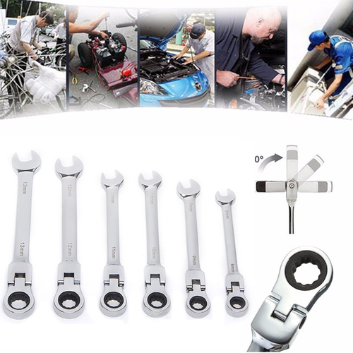 Lucky Gift 2018 !12mm Chrome Vanadium Steel Metric Fixed Head Ratchet Spanner Gear Wrench