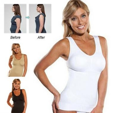 Genie Bra Cami Tank Top Women Body Shaper Removable Shaper Underwear Slimming Ve