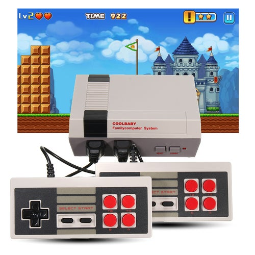 New Mini Retro Classic NES Console TV Game 500 Built-in Games+2 Handle Controllers