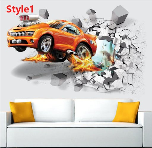3D Basketball Football Wall Stickers Background Wall Stickers Home Decor