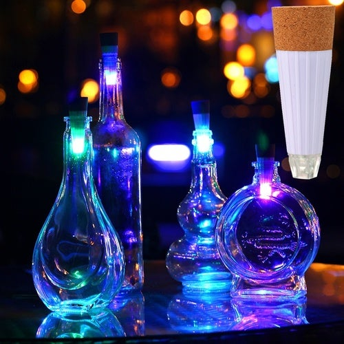 7 Colors Cork Shaped Rechargeable USB LED Night Light Wine Bottle Lamp Party