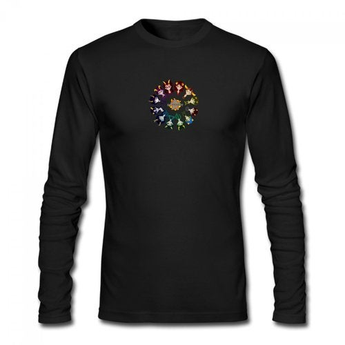 Homestuck Hivebent Betas Clock Starsign Men's Long Sleeve T-shirt