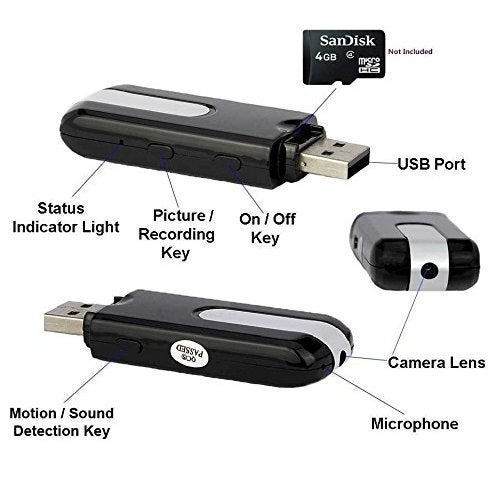 4GB Mini U8 USB Flash Driver DVR USB Disk Spy Hidden Camera Camcorder Motion Activated Detection 720x480