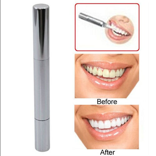 Silvery White Teeth Whitening Pen Bleach Stain Eraser Tooth Gel Whitener Remove Instant Care Oral Hygiene
