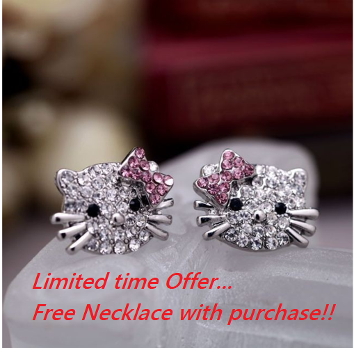Limited time offer... Free Matching necklace with purchase!!!