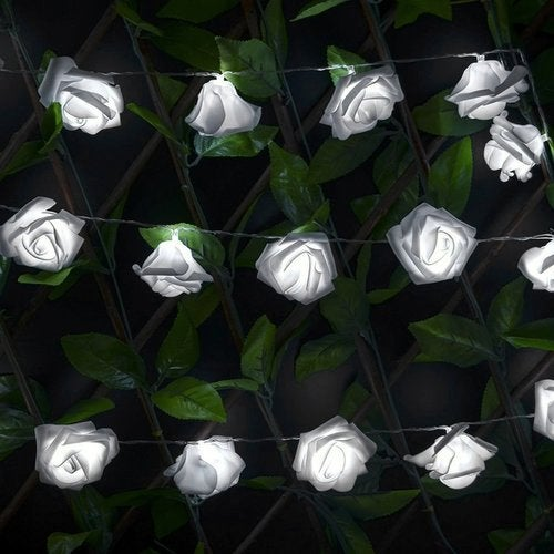 DIY 10 LEDs Simulation Roses Stripe Lights Holiday Lighting Home Decoration