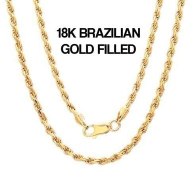 18k Gold Fill 2MM Rope Chain
