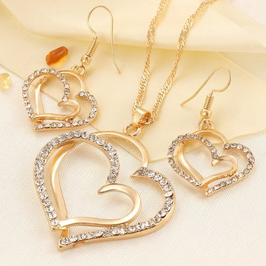 Creative Necklace Earring Set Princess Bride Bridesmaid Romantic Wedding Jewerly