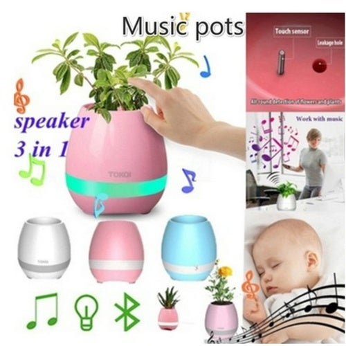 New Fashion Home Decor Plastic Music Bluetooth Speaker Flower Home Office Decoration Musical Speaker Health Gifts