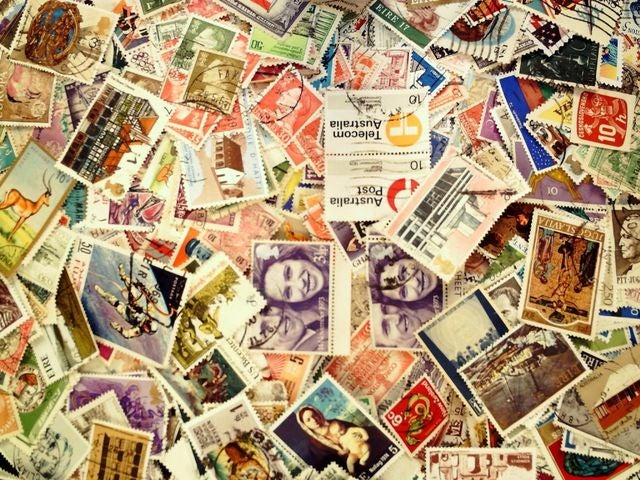 Huge Stamp Lot: Over 100 WORLDWIDE stamps ,mint and used ,S/S, From ESTATE SALE. You receive 1 Stamp Pictured