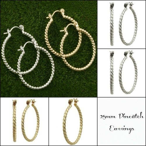 25mm 14k Gold Filled Hoop Earrings (Choose Color at Checkout)