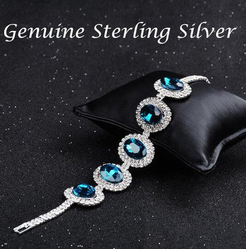 2017 New Individuality Austrian crystal bracelet in sterling silver