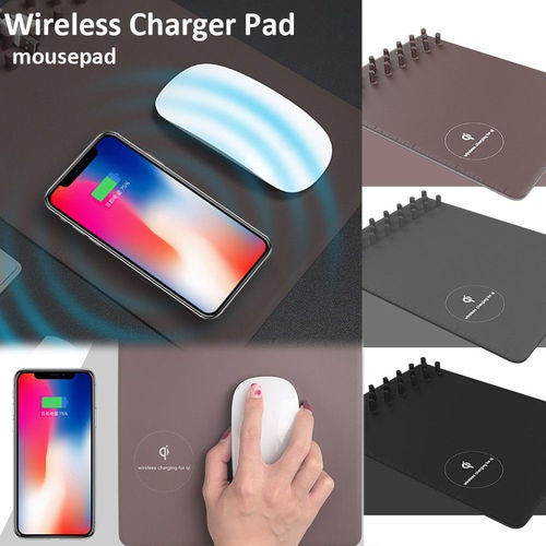 New Multi-function Charging Mouse Pad Qi Wireless Charger Pad For iPhone X 8 8 Plus