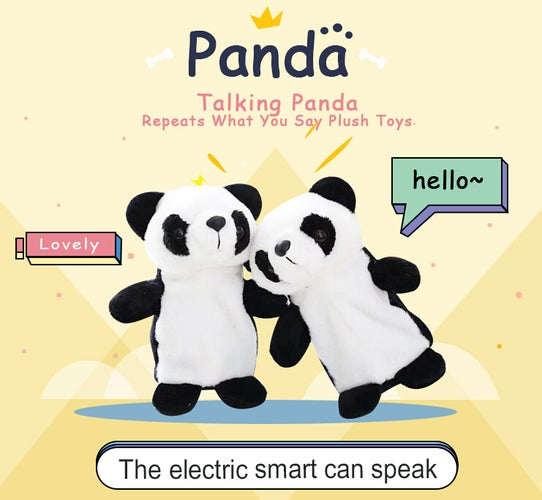 New Talking Panda Plush Toys Sound Record Plush Panda Talking Hamster Gift For kids